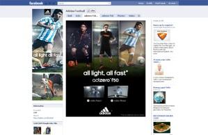 Página personalizada para Facebook